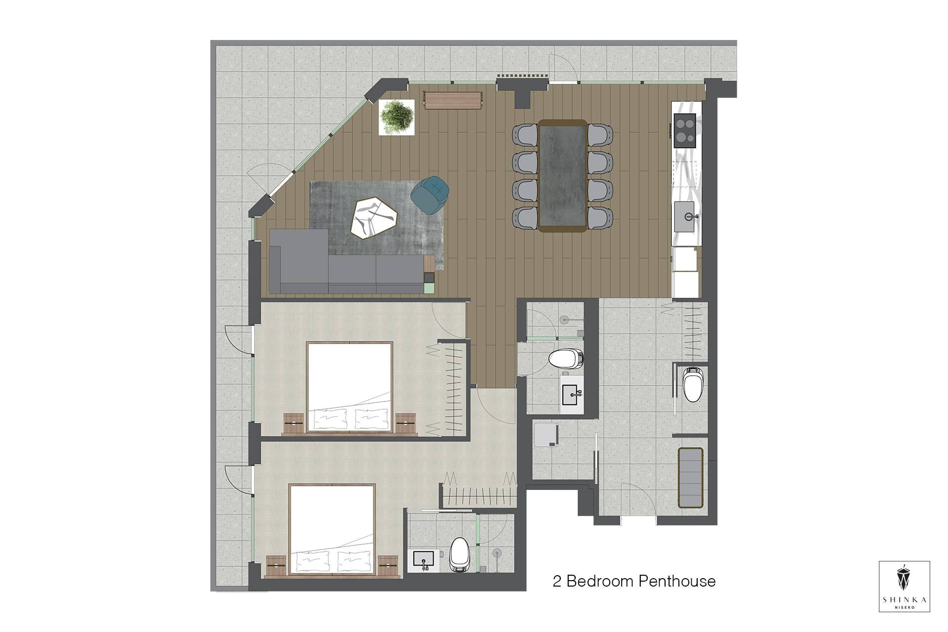 Shinka 2BR Penthouse Floorplan